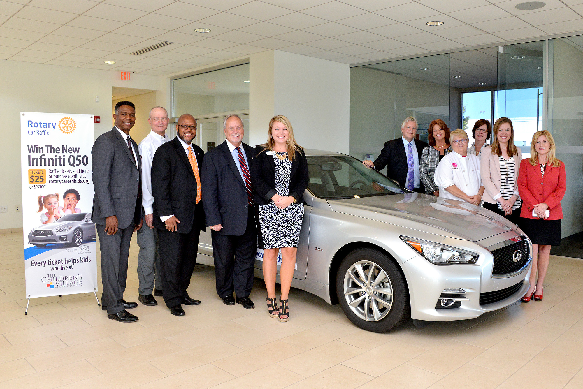 south side rotary clubs to raffle new infiniti car christian city